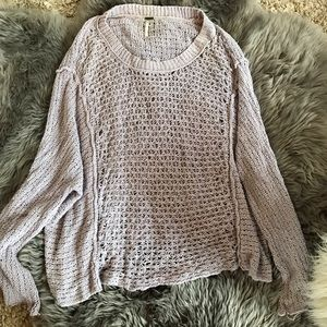 Light purple Free People oversized sweater